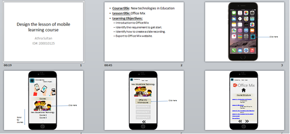 Micro mobile learning course