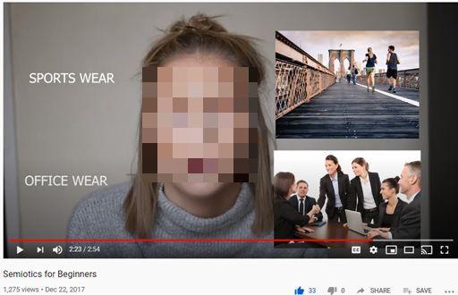 Screenshot from video Semiotics for Beginners